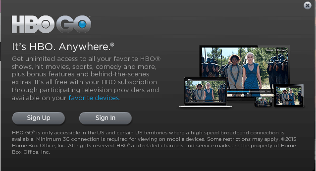Watch HBO Go in Canada with VPN
