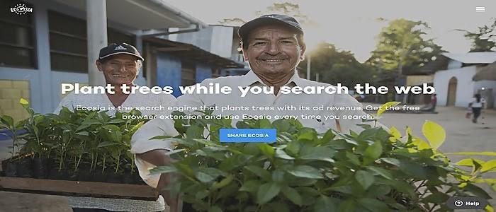 Ecosia- search engine in canada