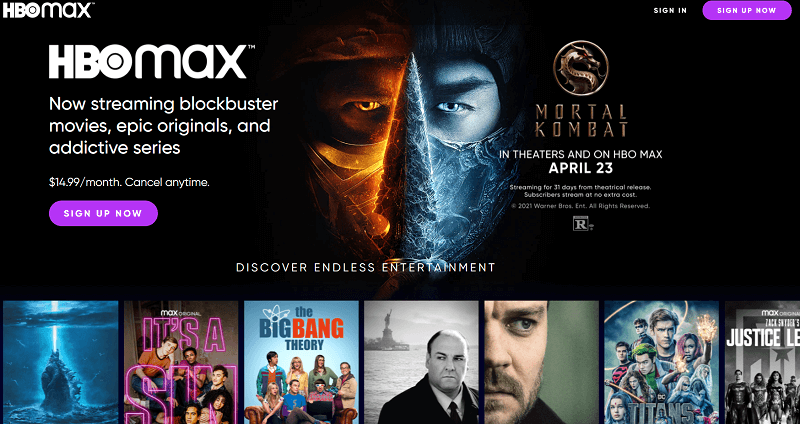 HBO Max subscription cost Canada