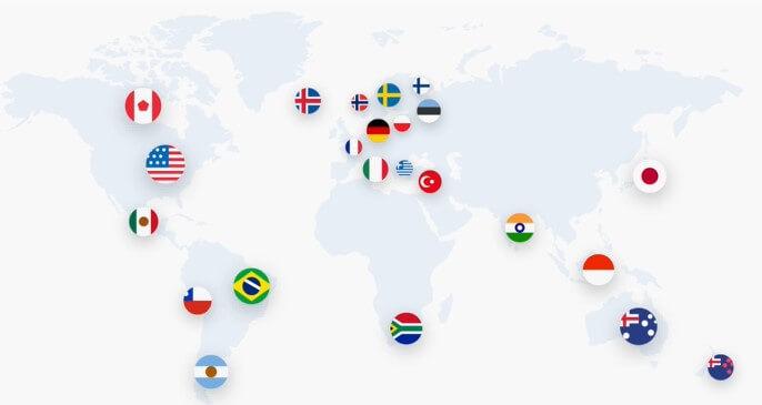 NordVPN Servers locations