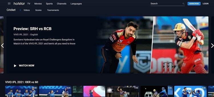 Watch IPL Live on Hotstar in Canada