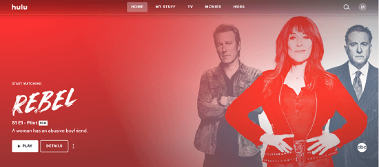 Hulu Homescreen