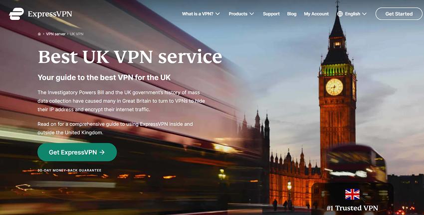 ExpressVPN- best UK servers