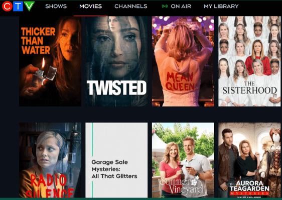 shows on CTV outside canada