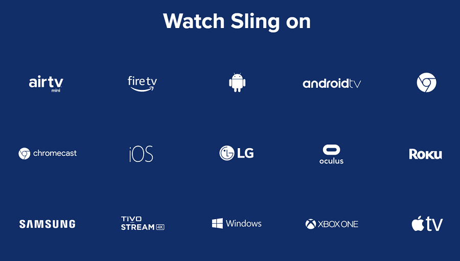 what can i watch sling on