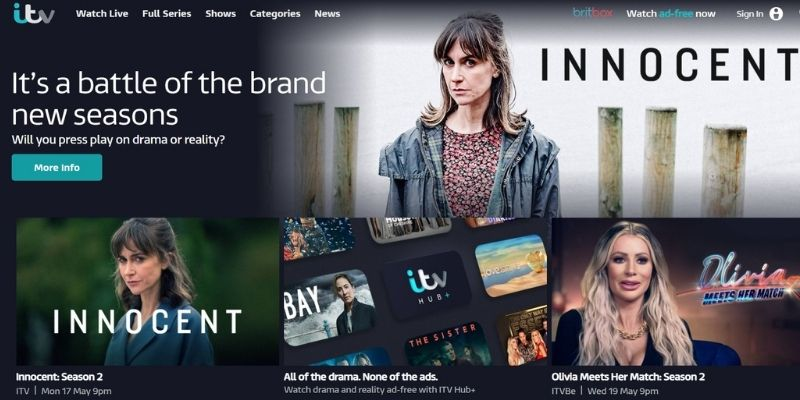 what's on ITV Hub