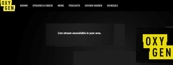 Oxygen tv error