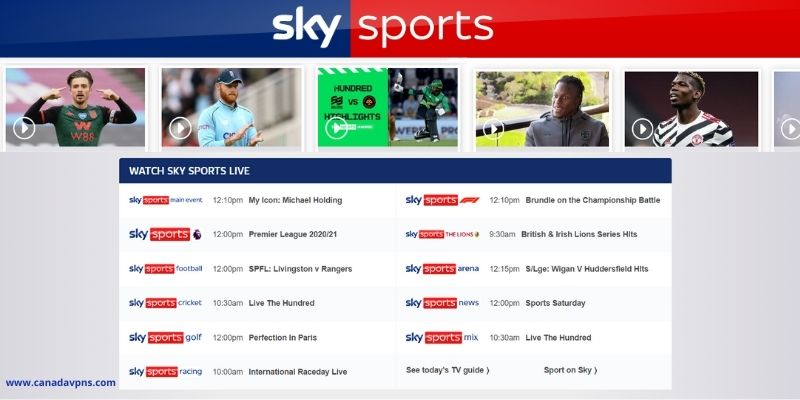 Sky Sports matches