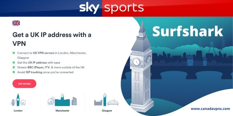 Sky Sports Canada- Surfshark VPN