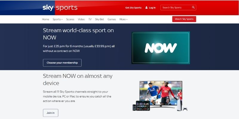 Sky Sports devices