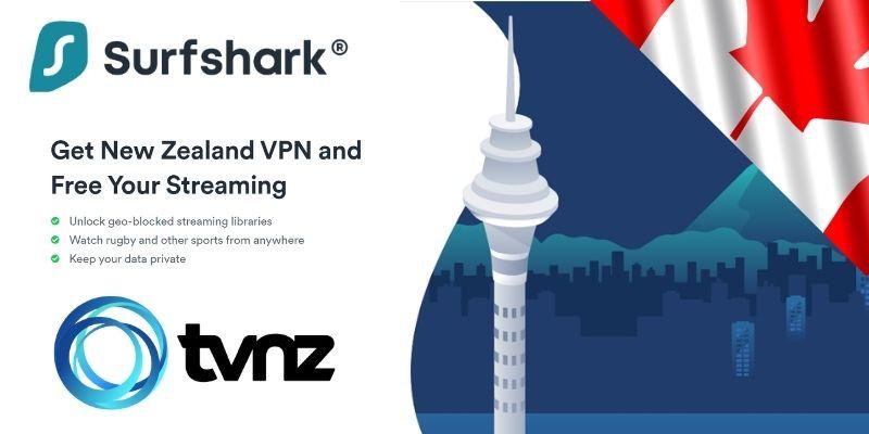 Surfshark VPN Canada - New Zealand tv