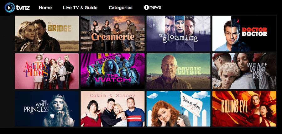 TVNZ shows Canada