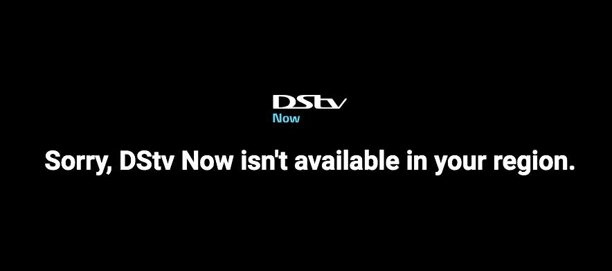 DSTV Canada-Error
