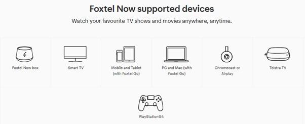 Foxtel Go compatible devices