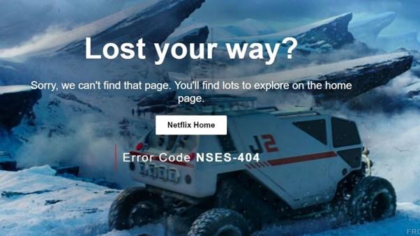 NSES-404 Error Netflix
