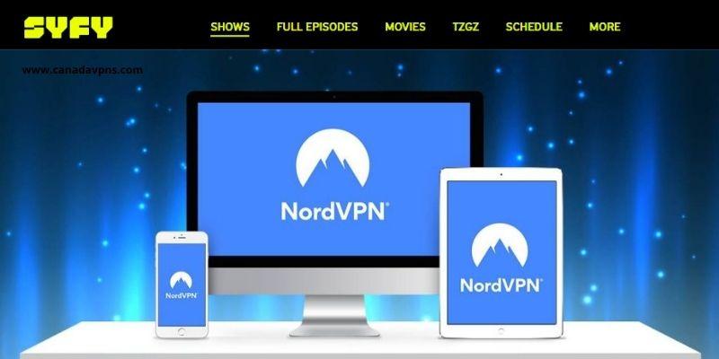 NordVPN USA server- unblock Syfy