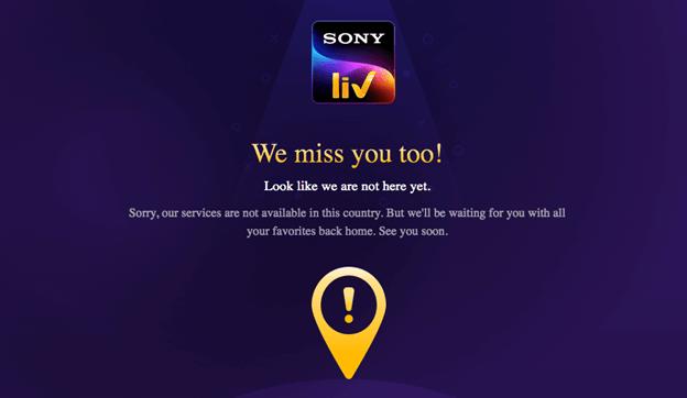 SonyLIV not working