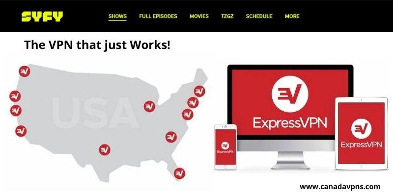 Syfy in Canada - ExpressVPN server