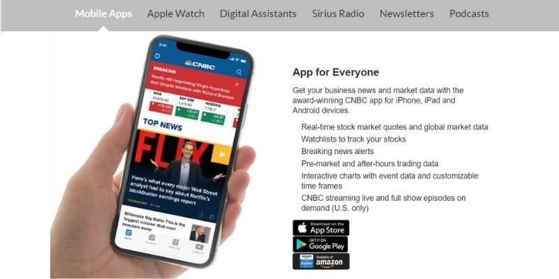 cnbc mobile apps