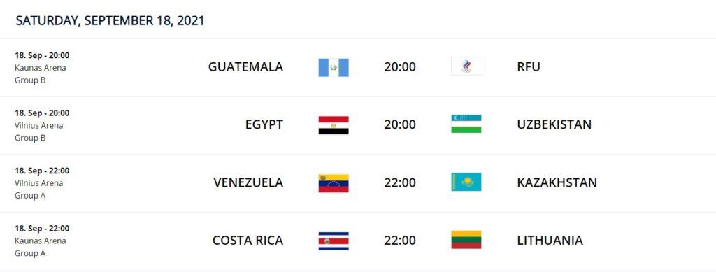 Sept 18 FIFA Futsal WC 2021