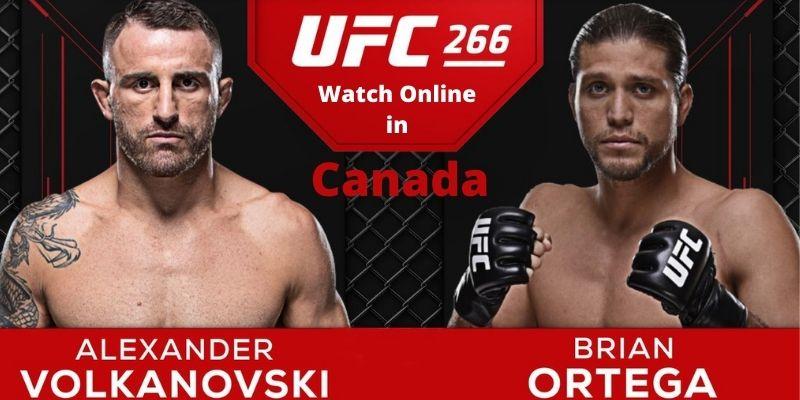 Watch UFC 266 Live in Canada